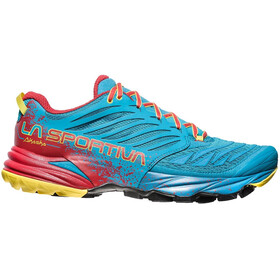 La Sportiva Akasha Running Shoes Herr tropic blue/cardinal red